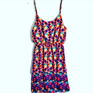 Everly Multicolored Dress w/Bow In Back Size: M